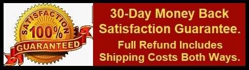 30 day satisfaction guaranteed